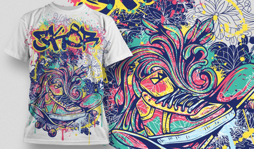Get inspired with these graffiti art t shirt designs wertee for T shirt design for screen printing