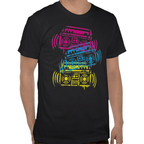 Stenciled Boom boxes Shirt