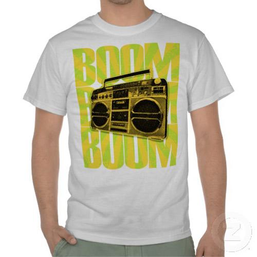 Orange Boom Boom Boombox Tshirts