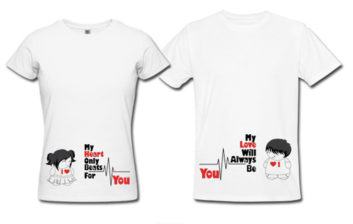 Couple shirts design images images for Best couple t shirt design