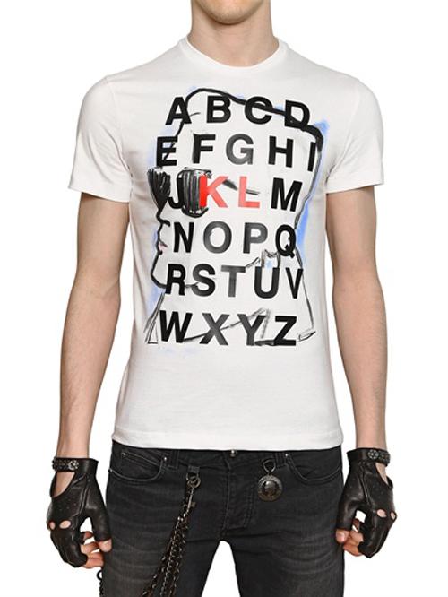 Alphabet Print Karl Print Jersey T-shirt
