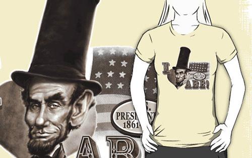 I Love Abe Lincoln Caricature