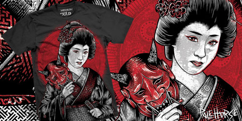 Oni Geisha T-shirt Design