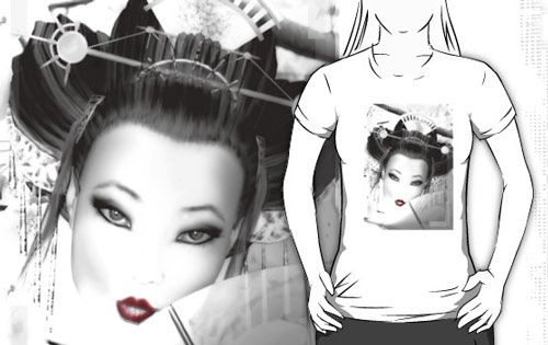 White Geisha T-shirt