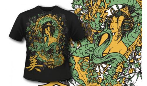 Geisha and Dragon