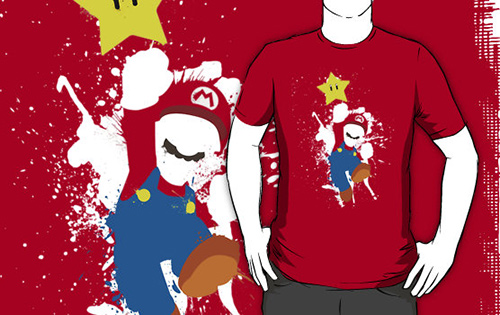 Super Mario Splattery T-Shirt